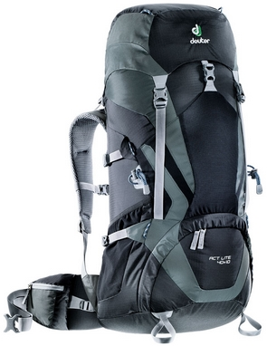 Рюкзак Deuter Act Lite 40 + 10 л black-granite