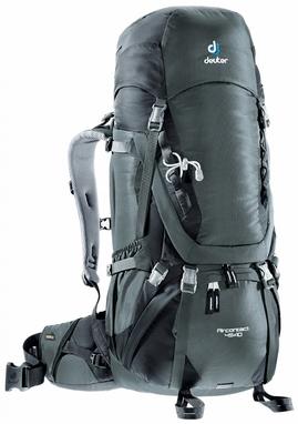 Рюкзак туристический Deuter Aircontact 45+10 л granite-black