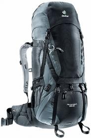 Рюкзак туристический Deuter Aircontact 55+10 л black-titan