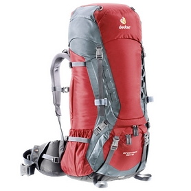 Рюкзак туристический Deuter Aircontact 55+10 л cranberry-titan