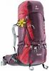 Рюкзак туристический Deuter Aircontact 60+10 л aubergine-cranberry - фото 1
