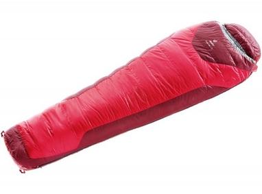 Мешок спальный (спальник) Deuter Trek Lite +3 L левый fire-cranberry