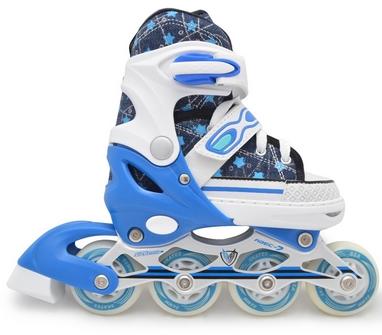 Коньки роликовые раздвижные Maraton 9003 синие