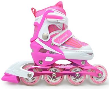 Коньки роликовые раздвижные Maraton M-11 розовые