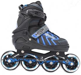 Коньки раздвижные роликовые Maraton Cool Slide M-6005 синие