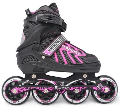 Коньки раздвижные роликовые Maraton Cool Slide M-6005 розовые
