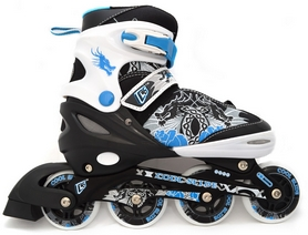 Коньки роликовые раздвижные Maraton Cool Slide M-1303 синие