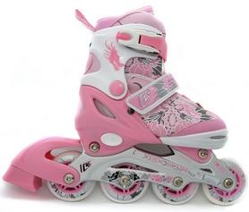 Коньки роликовые раздвижные Maraton Cool Slide M-1303 розовые