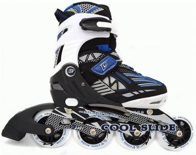 Коньки роликовые раздвижные Maraton Cool Slide M-1308-В синие