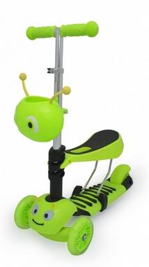 Самокат трехколесный с сиденьем Maraton Scooter 150 Зеленый