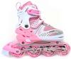 Коньки роликовые раздвижные Maraton M-12 розовые - фото 1