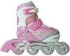 Коньки роликовые раздвижные Maraton Cool Slide 1401 розовые - фото 1