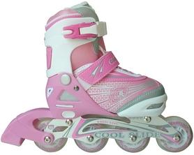 Коньки роликовые раздвижные Maraton Cool Slide 1401 розовые