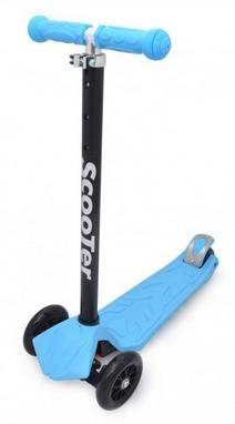Самокат трехколесный Maraton Scooter 125 голубой