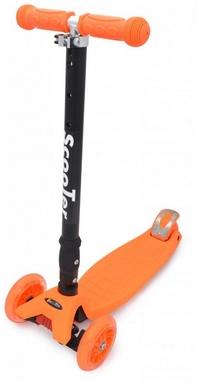 Самокат трехколесный Maraton Scooter 125 оранжевый
