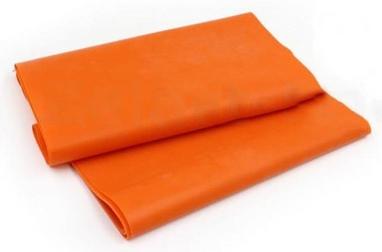 Лента эластичная для пилатеса Pro Supra (р-р 1,5 м x 15 см x 0,3 мм) оранжевая