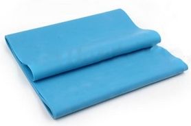 Лента эластичная для пилатеса Pro Supra (р-р 1,5 м x 15 см x 0,3 мм) голубая