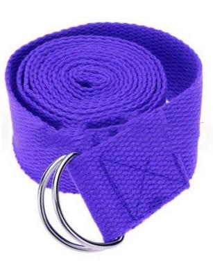 Распродажа*! Ремень для йоги Pro Supra (183 см x 3,8 см) сиреневый