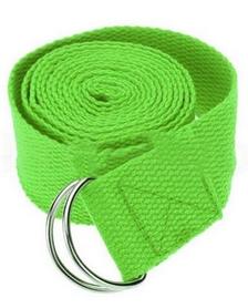 Ремень для йоги Pro Supra (183 см x 3,8 см) салатовый