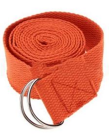 Ремень для йоги Pro Supra (183 см x 3,8 см) оранжевый