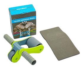 Ролик для пресса с ковриком EVA Pro Supra Abdominal wheel FI-5950-G салатовый