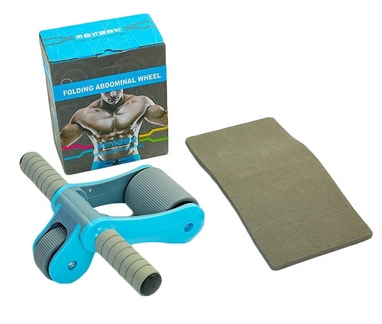 Ролик для пресса с ковриком EVA Pro Supra Abdominal wheel FI-5950-B голубой