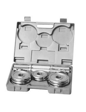 Гантели наборные хромированные в коробке HouseFit 15 кг