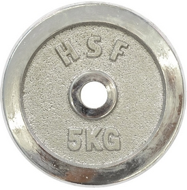 Диск хромированный HouseFit 5 кг DB C102-5 - 30 мм