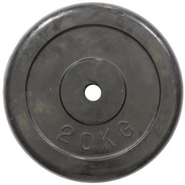Диск обрезиненный 20 кг R-20 - 30 мм
