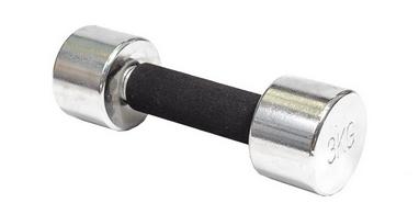 Гантель для фитнеса хромированная c мягкой ручкой 3кг DB 305-3
