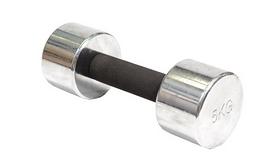 Гантель для фитнеса хромированная c мягкой ручкой 5кг DB 305-5