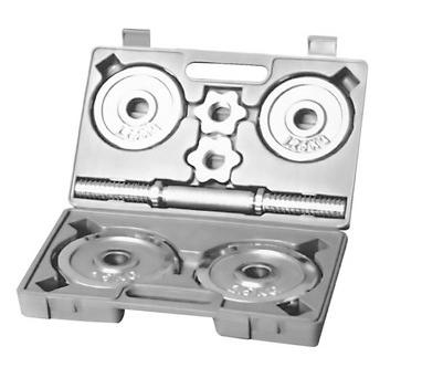 Гантель наборная хромированная в коробке HouseFit 10 кг DB 308