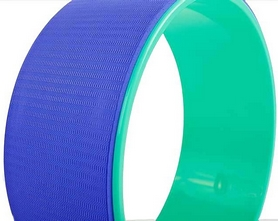 Фото 3 к товару Колесо-кольцо для йоги Pro Supra FI-5110 Yoga Wheel зеленый-фиолетовый