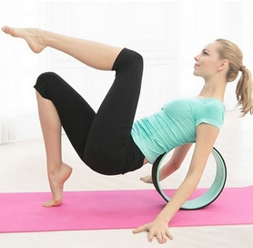Фото 4 к товару Колесо-кольцо для йоги Pro Supra FI-5110 Yoga Wheel зеленый-фиолетовый