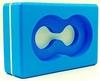 Йога-блок с отверстием Pro Supra FI-5163 синий - фото 1