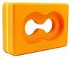 Йога-блок с отверстием Pro Supra FI-5163 оранжевый - фото 1