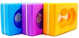 Фото 2 к товару Йога-блок с отверстием Pro Supra FI-5163 оранжевый