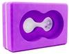 Йога-блок с отверстием Pro Supra FI-5163 фиолетовый - фото 1