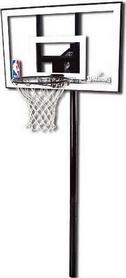 Стойка баскетбольная стационарная Spalding Silver In-Ground - 44 Polycarbonate
