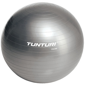 Мяч для фитнеса (фитбол) Tunturi Gymball 75 см, серый