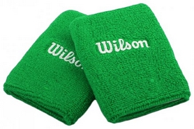 Повязки на кисть (напульсники) Wilson Double Wristband SS15 Green (2 шт)