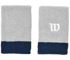 Напульсник Wilson Extra Wide Wristband Grey/NAVY SS16