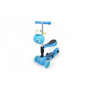 Самокат трехколесный с сиденьем Maraton Scooter 150 Синий