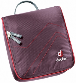 Косметичка Deuter Wash Center II aubergine-fire