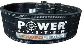 Пояс тяжелоатлетический Power System Power Lifting PS-3800 Black-Black