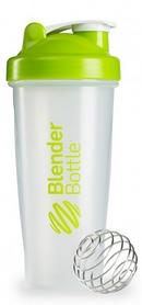 Шейкер BlenderBottle Classic 820 мл Clear/Green с шариком