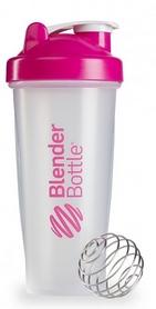 Шейкер BlenderBottle Classic 820 мл Clear/Pink с шариком