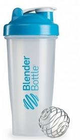 Шейкер BlenderBottle Classic 820 мл Clear/Aqua с шариком