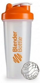Шейкер BlenderBottle Classic 820 мл Clear/Orange с шариком