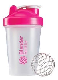 Шейкер BlenderBottle Classic 590 мл Clear/Pink с шариком